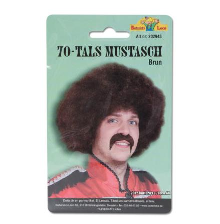 70-tals mustasch, brun