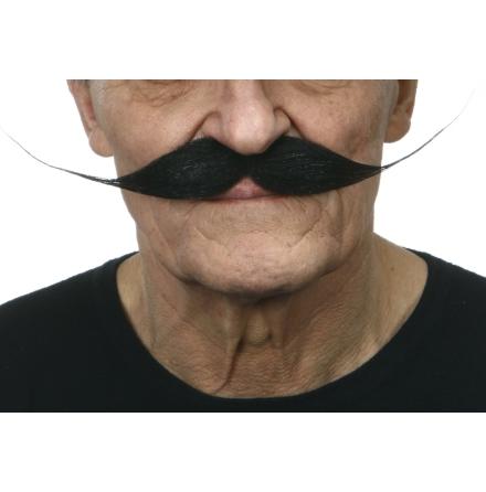 Mustasch Vaxad gråsprängd