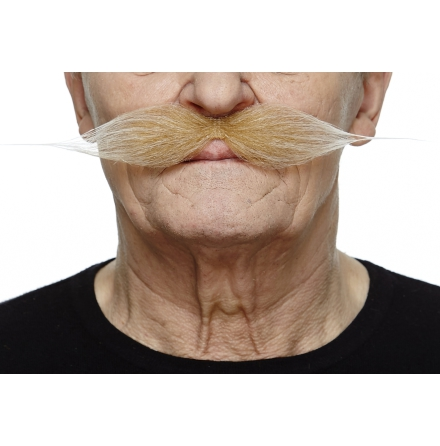 Mustasch Vaxad vit