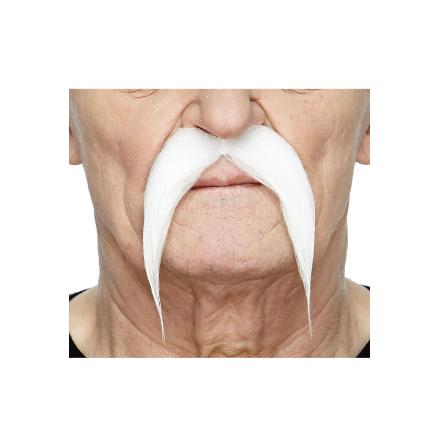 Mustasch slok, vit