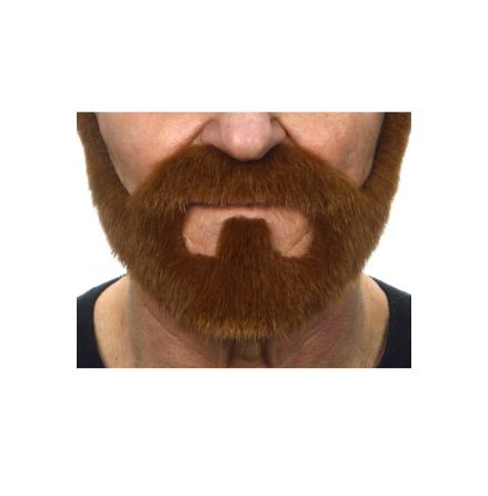 Skepparkrans med mustasch, brun