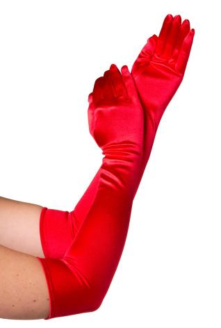 Handskar 57 cm röda