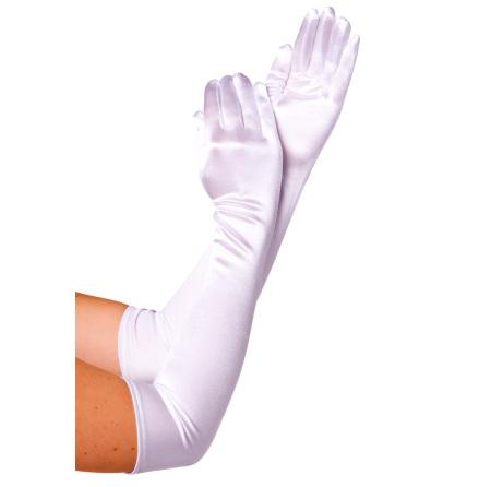 Handskar 57 cm vita