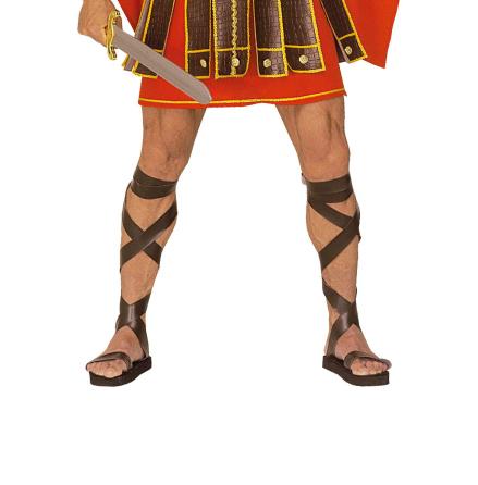 Romerska sandaler läderlook