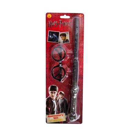 Harry Potter-glasögon och trollspö