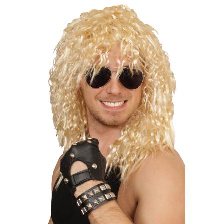 Peruk Hårdrockare blond