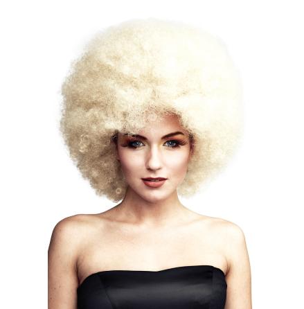 Jätteafro, blond