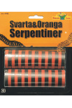 Serpentiner svart/orange 2 st