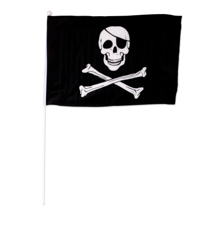 Piratflagga i tyg 46x30cm