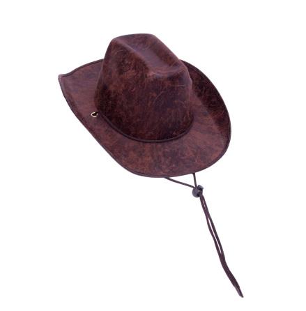 Cowboyhatt brun läderim.