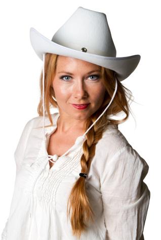 Cowboyhatt, vitt