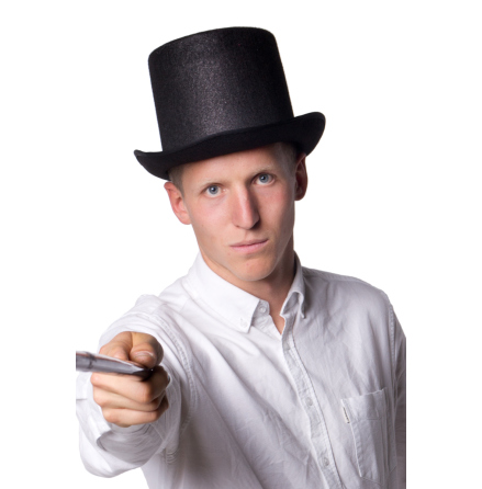 Hatt extra hög svart
