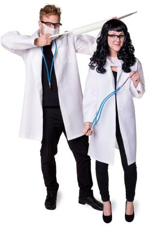 Doktorsrock, vit
