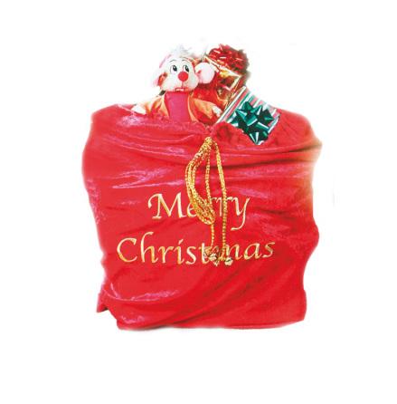 Julsäck de luxe med guldbrodyr