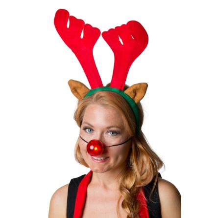 Rudolf set blinkande nos