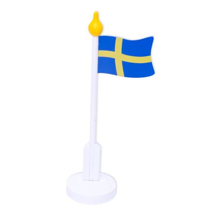 Bordsflagga SE Trä 30 cm