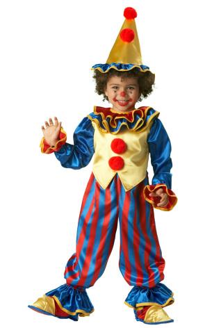 Barndräkt, clown 110/116 cl