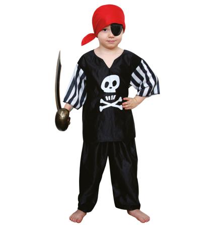 Svart piratdräkt, barn