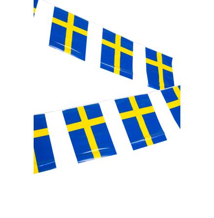 Svensk flagg-girlang, 6 m