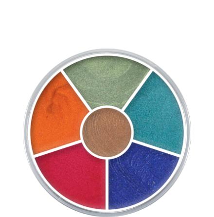 Kryolan Supra Multi Color palett 6-färg sense