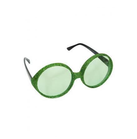 Glitterglasögon, gröna