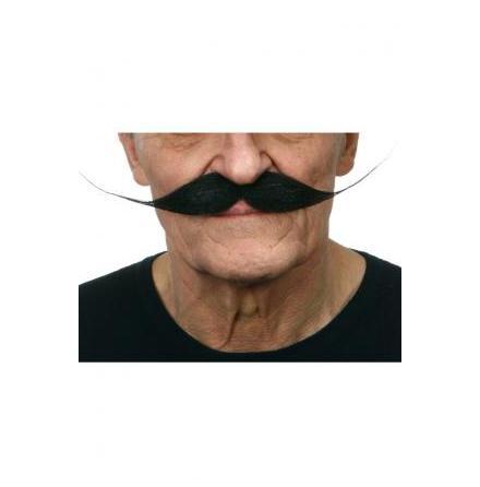 Mustasch Vaxad svart