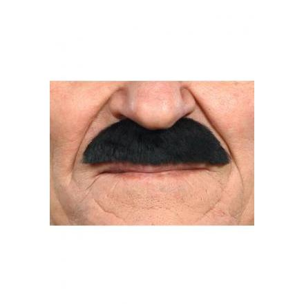 Mustasch Buskig svart