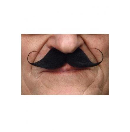 Mustasch Poirot svart