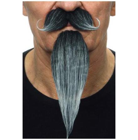 Mustasch m skägg Musketör grå