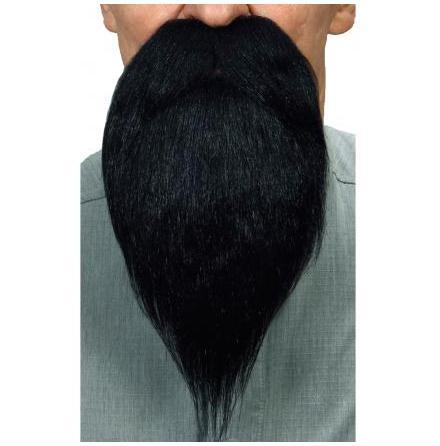 Skägg m mustach lång svart