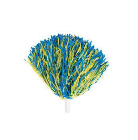 Pom-pom, blå/gul 180gr