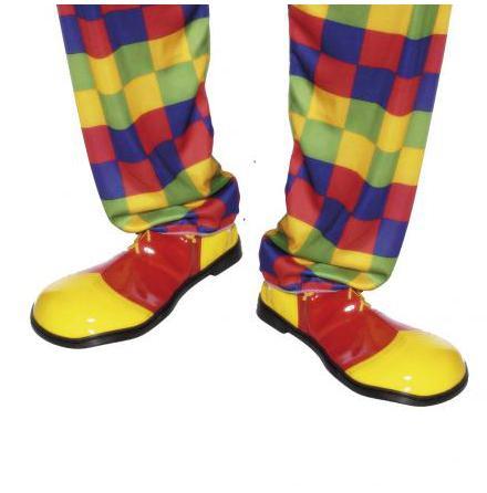 Clownskor, röd/gula