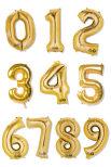 Folie Siffer 9 guld