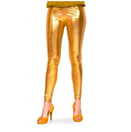 Leggings, guld metallic L/XL