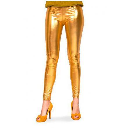Leggings, guld metallic L/XL