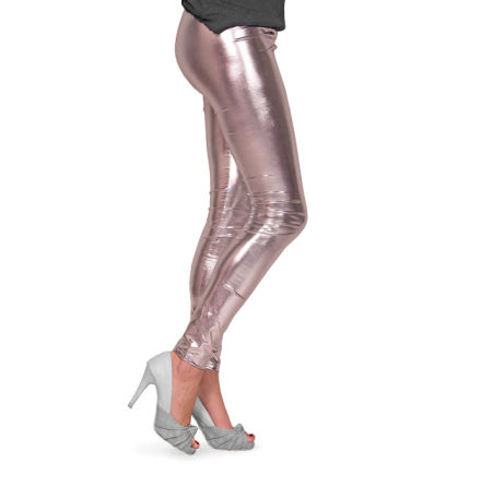 Leggings, silver metallic S/M