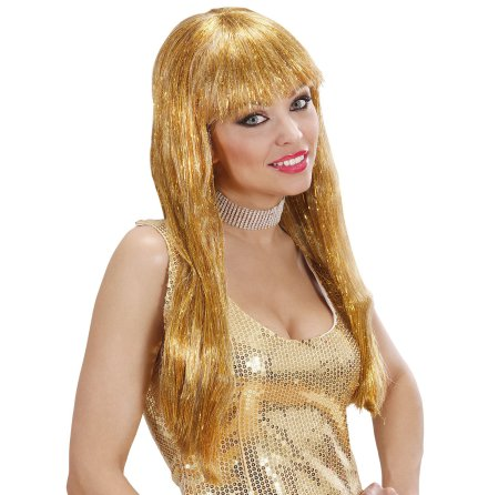 Peruk, glamour guld