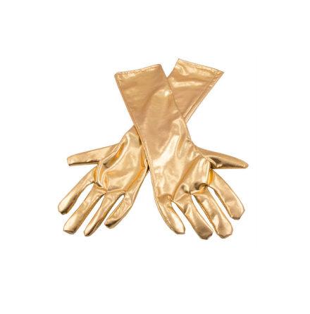 Handskar, guld metallic
