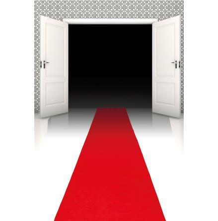 Röd matta, 450x60cm
