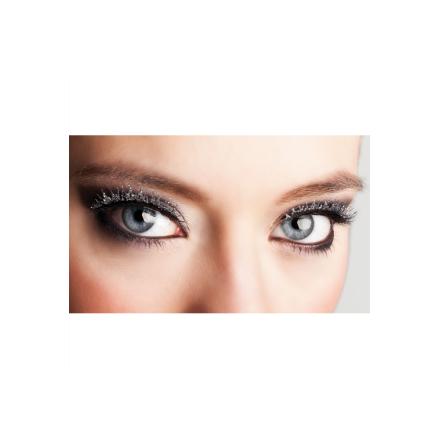 Ögonfransar, glitter silver