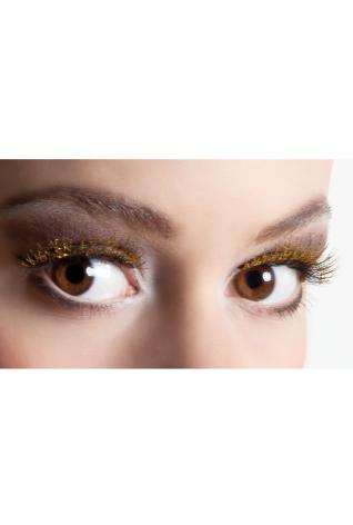 Ögonfransar, glitter guld