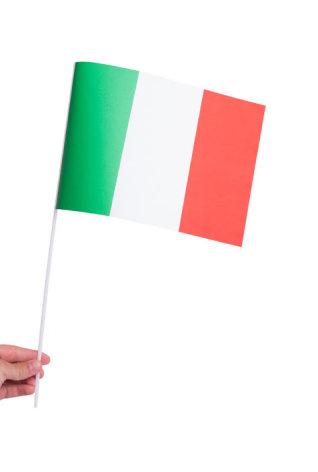 Pappersflagga, Italien 27x20cm