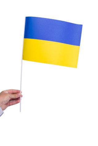 Pappersflagga, Ukraina 27x20cm