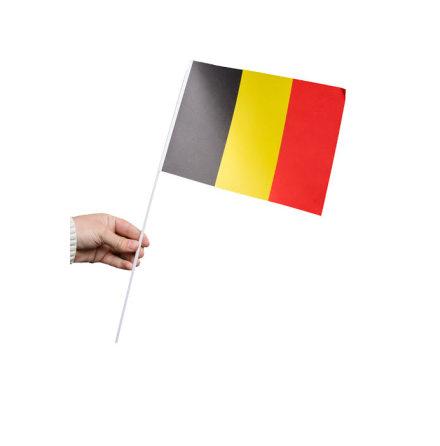 Pappersflagga, Belgien 27x20cm