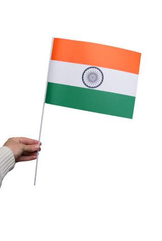 Pappersflagga, Indien 27x20cm