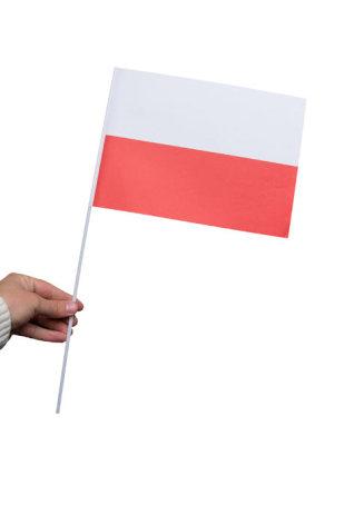 Pappersflagga, Polen 27x20cm