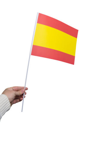 Pappersflagga, Spanien 27x20cm