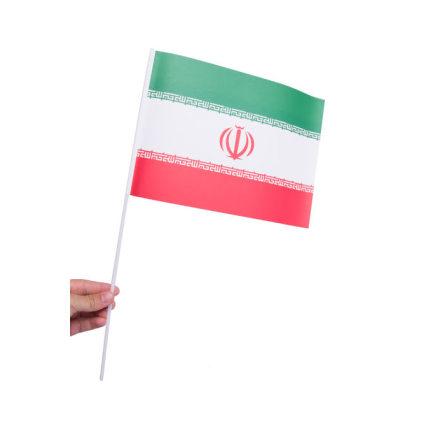 Pappersflagga, Iran 27x20cm