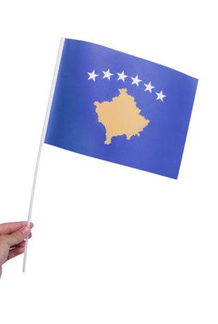 Pappersflagga, Kosovo 27x20cm