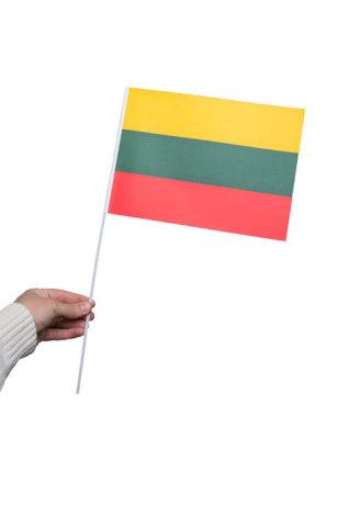 Pappersflagga, Litauen 27x20cm